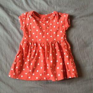 10/$10 Just One You Orange Polka Dot Dress Newborn